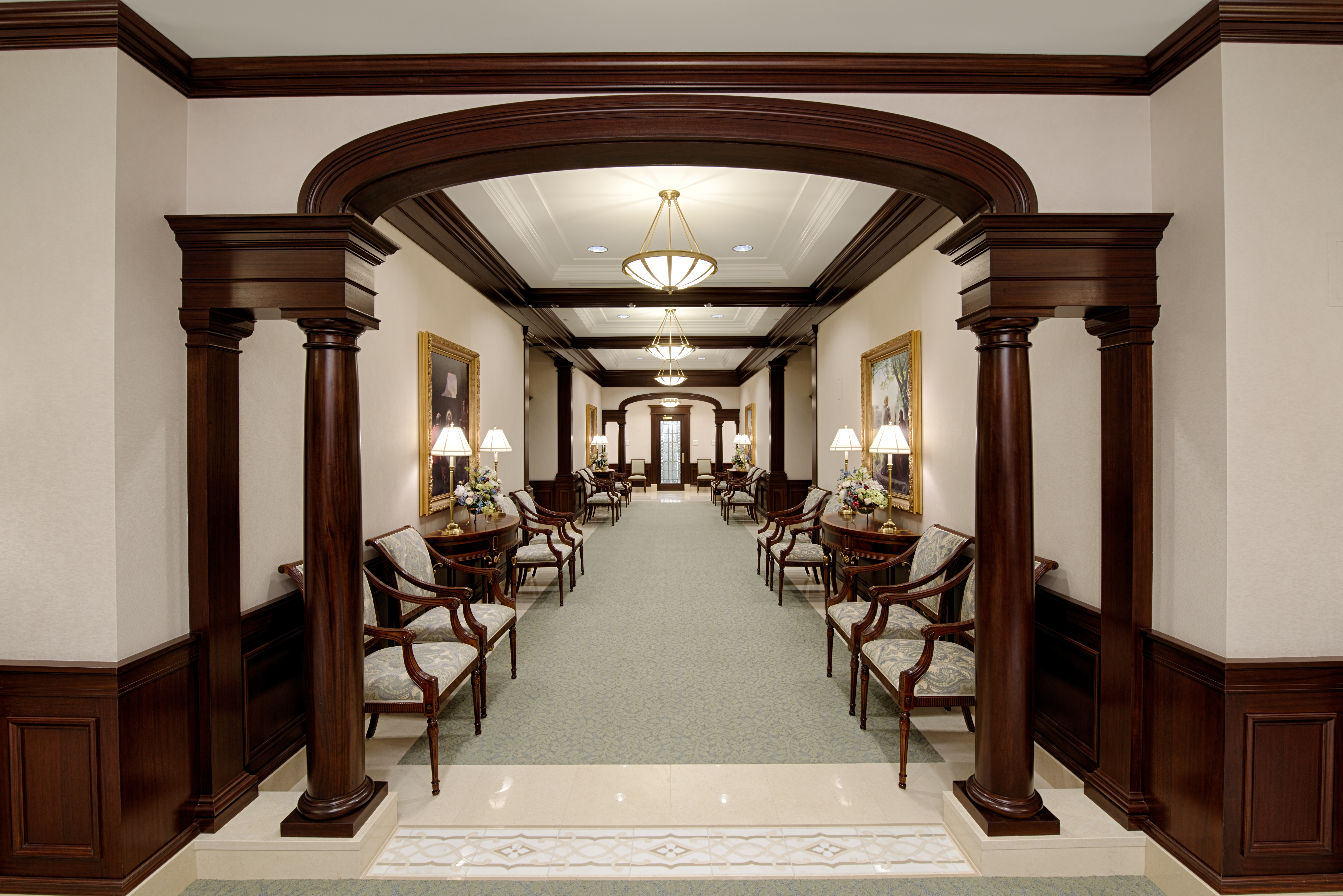 Mormon temple grand hallways an inside look at lds temples for Hallways images
