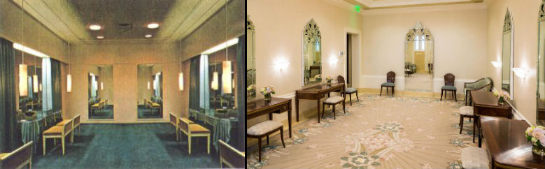LDS Ogden Temple Brides Room 1972 and 2014