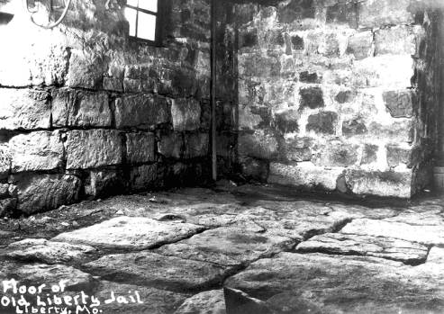 Photograph of the floor of the original Liberty Jail