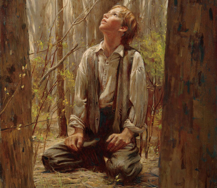 Joseph Smith's First Prayer, The Desires of My Heart, by Walter Rane