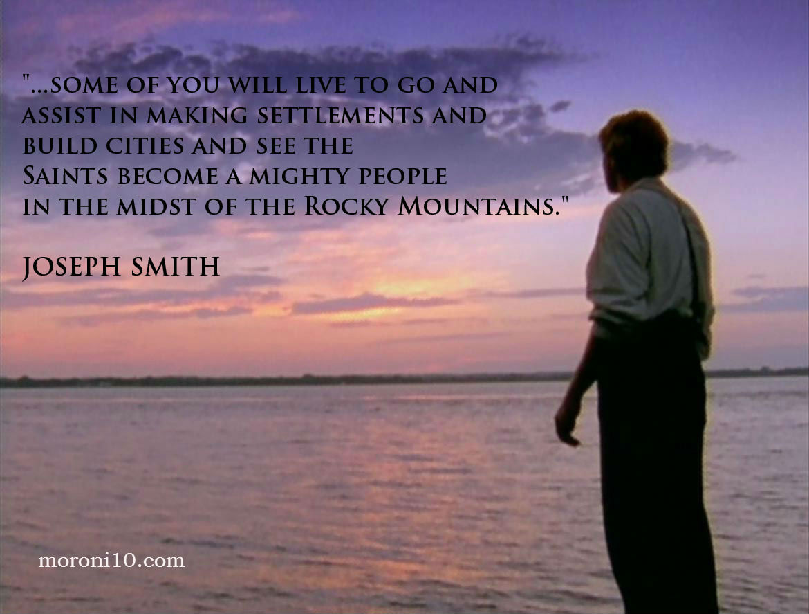 Joseph Smith Looking Westward