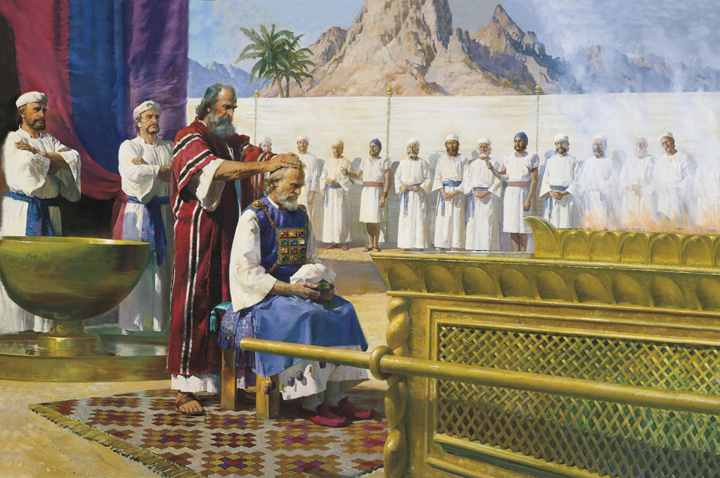 Moses Ordains Aaron by Harry Anderson